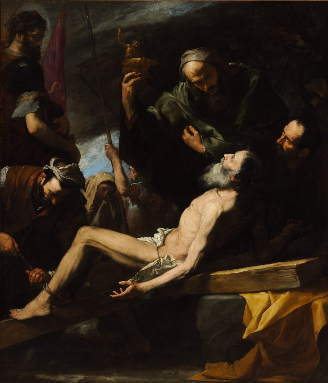Jusepe de Ribera (1591-1652): Das Martyrium des heiligen Andreas 1628 Budapest, Museum der Bildenden Künste (Foto: © Szépművészeti Múzeum / Museum of Fine Arts Budapest)
