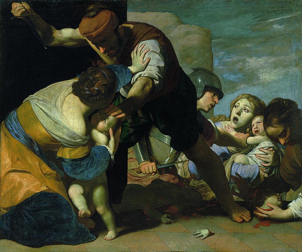 Massimo Stanzione (1585—1656): Der bethlehemitische Kindermord, 1630-1635, Graf Harrach'sche Familiensammlung, Schloss Rohrau, Österreich (Foto: © Graf Harrach'sche Familiensammlung, Schloss Rohrau, Österreich)