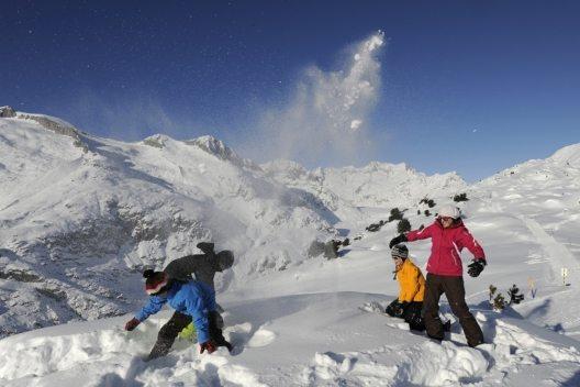 Schneespass in der AletschArena
