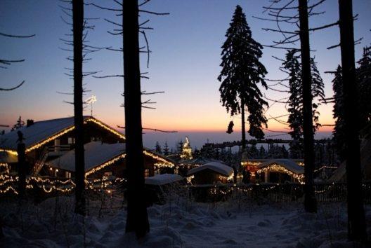 Der Bodenmaiser Hof empfiehlt Gästen einen Besuch des Weihnachtsmarkts am Waldwipfelweg in St. Englmar. (Bild: © Waldwipfelweg Sankt Englmar)
