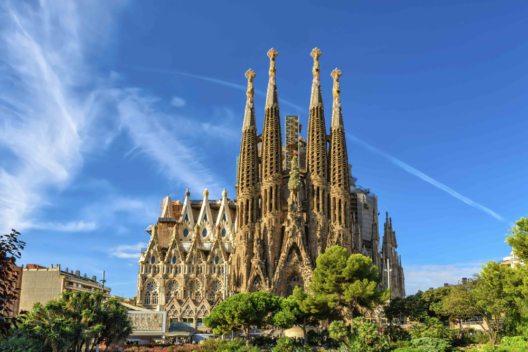 Spanien, Barcelona - Kathedrale La Sagrada Familia