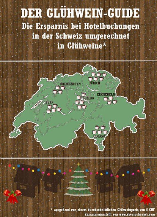 Der Glühwein-Guide Schweiz (Bild: DreamCheaper Global GmbH)