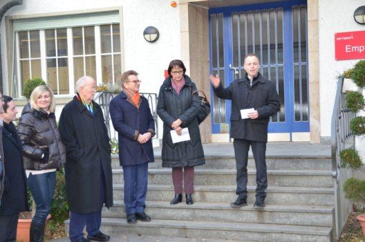 Von rechts: F. Schmid, RBS, E. Baumberger, Gemeinde Stettlen, H.U. Müller, H. Hofmann, C. Forte und G. Giuffredi, Bernapark