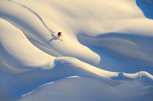 Skifahren im freien Gelände in Stuben am Arlberg (Bild: © Josef Mallaun)