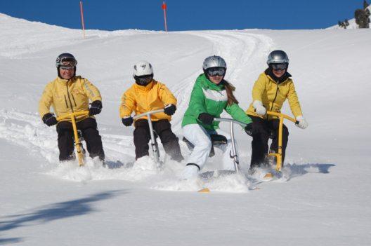 Snowbiken im Kleinwalsertal (Bild: © Kleinwalsertal Tourismus/Kessler Sport)