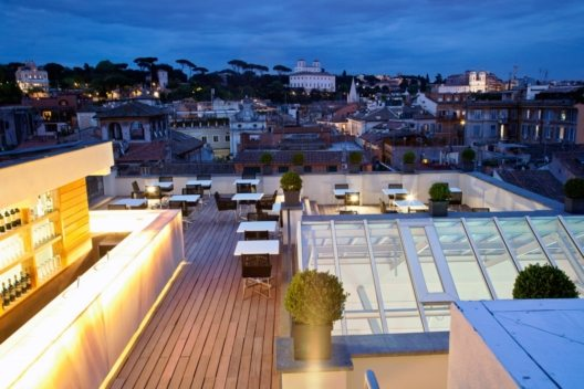 Terrace First Luxury Art Hotel Roma