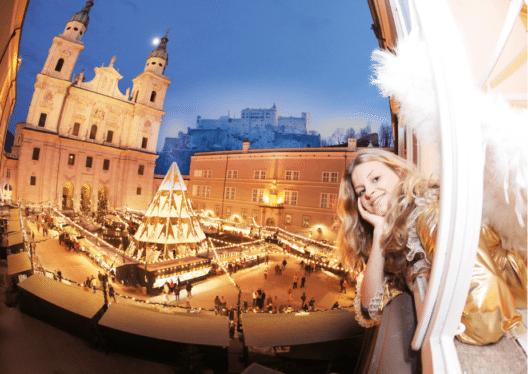 Der Salzburger Christkindlmarkt mit bester Lage am Dom- und Residenzplatz gehört mit einer 525-jährigen Geschichte zu den ältesten und traditionsreichsten Adventmärkten der Welt