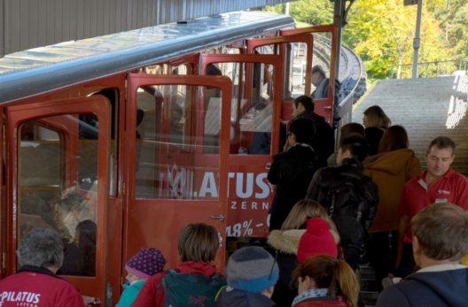 UBS-Bergaktion – Ansturm bei der Pilatus-Bahn.