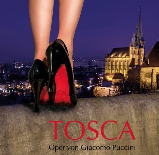 Im Mittelpunkt von Puccinis fünfter Oper steht die tragische Liebesbeziehung zwischen der Sängerin Floria Tosca und ihrem Geliebten, dem Maler Mario Cavaradossi. (Bild: © Theater Erfurt)