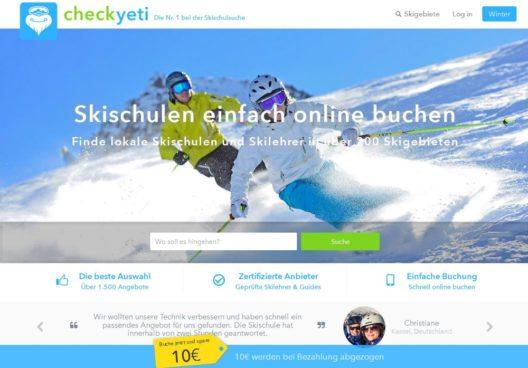 CheckYeti ist die weltweit größte Buchungsplattform und Mobile App für Wintersportaktivitäten. Vom Kinder-Skikurs über Snowboard-Stunden bis hin zur Freeride-Tour kann hier der gewünschte Kurs oder Privatlehrer nach individuellen Bedürfnissen gefunden, verglichen und sofort gebucht werden.