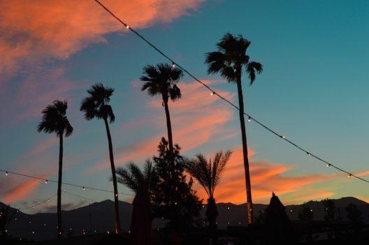 Palm Springs-Sonnenuntergang