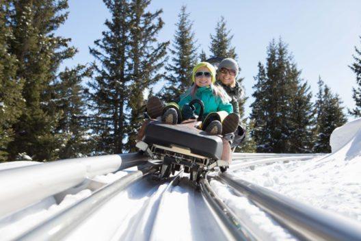 Serfaus Fiss Ladis Familien Coaster Schneisenfeger zu zweit (Bild: © Andreas Kirschner)