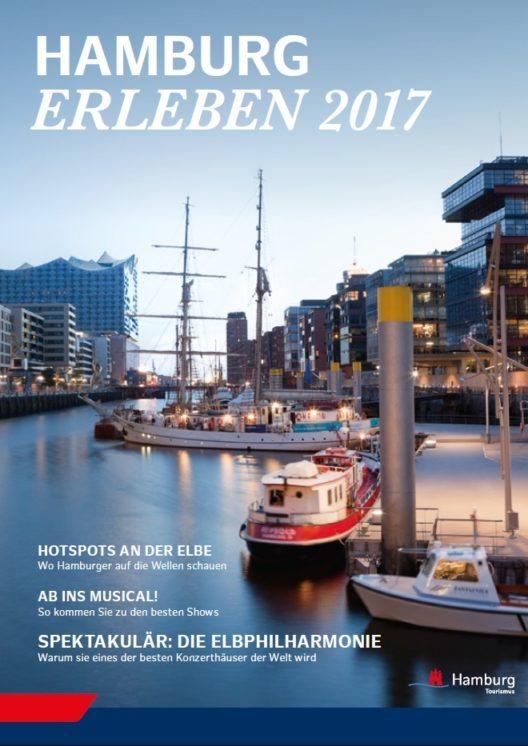 """Titelmotiv des neuen Reisemagazins """"Hamburg Erleben 2017"""" von der Hamburg Tourismus GmbH.(Bild: © obs/Hamburg Tourismus GmbH)"""