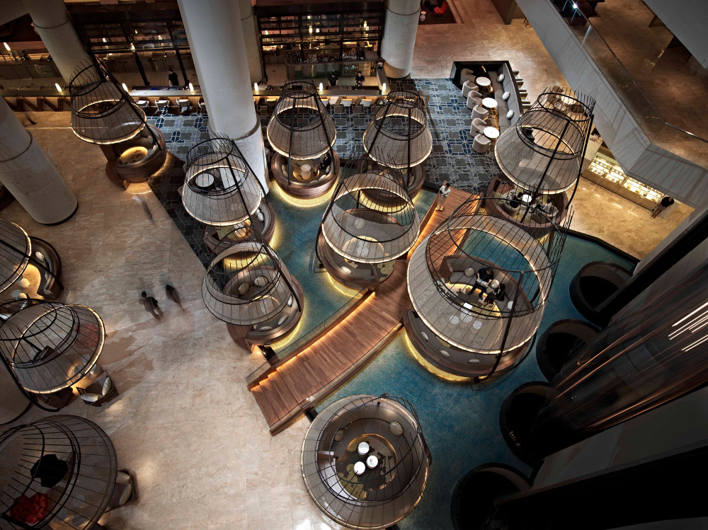 Pan Pacific Hotel - Atrium, Bar und Lounge (Bild: © Pan Pacific Singapore)