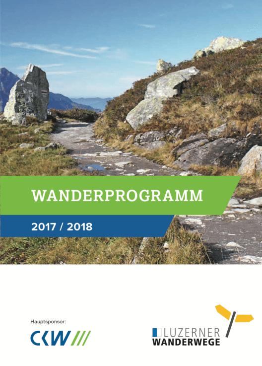 Wanderprogramm 2017/2018 (Bild: CKW)