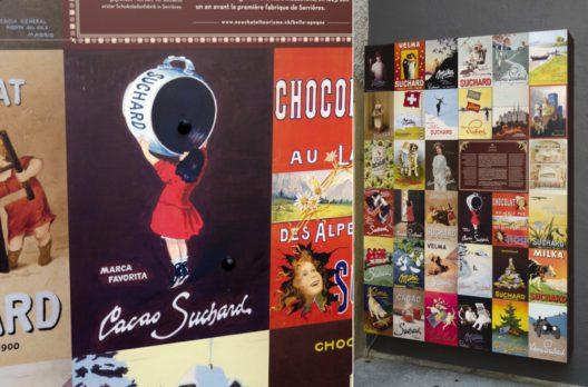 """Werbeplakate """"Suchard à la Belle Epoque"""" (Bild: © Tourisme neuchâtelois)"""