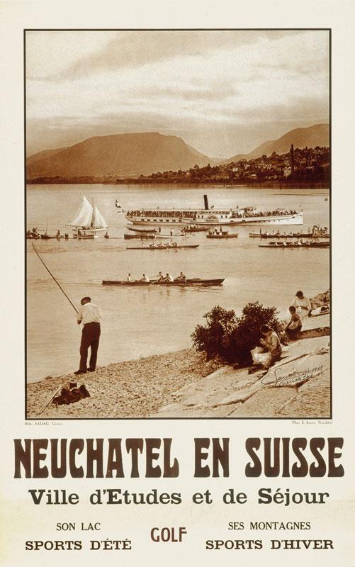 Postkarte Belle Epoque - Neuchâtel in der Schweiz (Bild: © Tourisme neuchâtelois)
