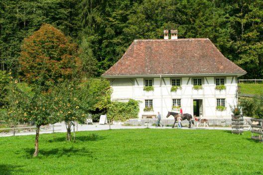 Altes Bauernhaus im Freilichtmuseum Ballenberg (Bild: © Stefano Ember - shutterstock.com)