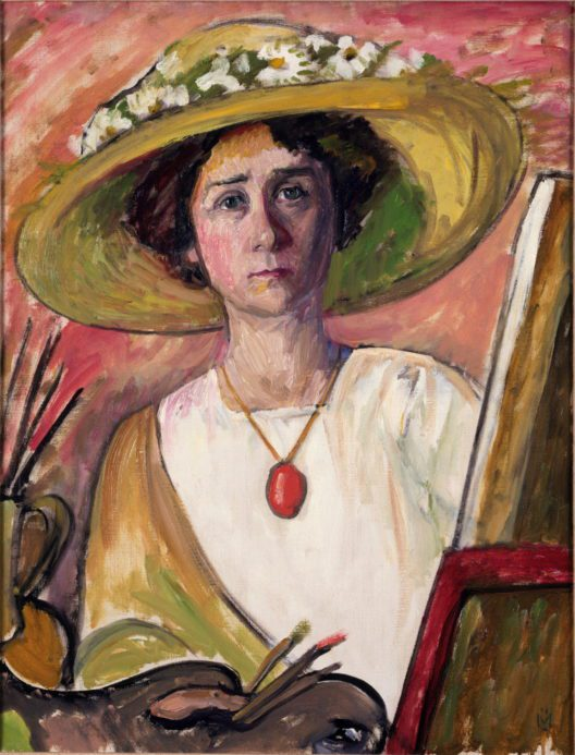 Gabriele Münter, Selbstbildnis, ca. 1908; Princeton University Art Museum, Gift of Frank E. Taplin Jr., Class of 1937, and Mrs. Taplin. Foto: © 2017. Princeton University Art Museum/Art Resource NY/Scala, Florence (Bild: © VG Bild-Kunst, Bonn 2017)