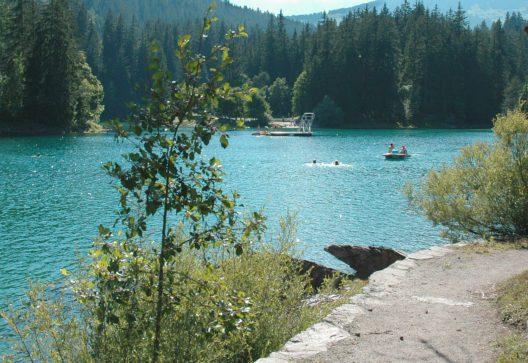 Caumasee Sommer 2008 (Bildquelle: Gemeinde Flims)
