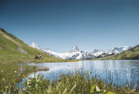 Der Bachalpsee bei Grindelwald, Berner Oberland (Bild: Jungfrau Region Tourismus)