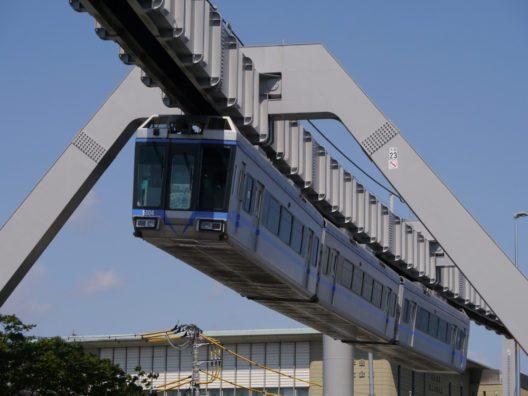 """Die Shonan Monorail im japanischen Kamakura mit ihrer Linie """"Blue Line"""", auf ihrer 6,6 Kilometer langen Strecke rund 10 Millionen Fahrgäste. (Bild: obs/WSW Wuppertaler Stadtwerke GmbH/Shonan Monorail)"""