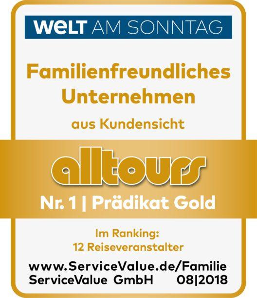 """alltours bietet Familien den """"Hotel-Nulltarif"""" für Kinder (Bild: obs/alltours flugreisen gmbh)"""