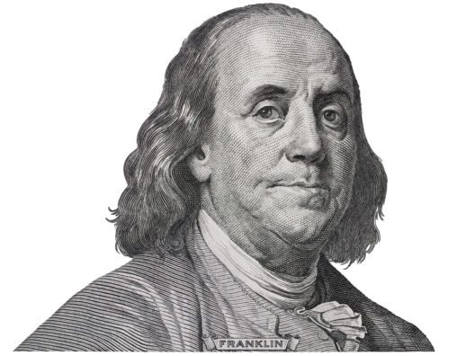 Benjamin Franklin gilt als Erfinder der Bifokalgläser. (Bild: vkilikov - shutterstock.com)