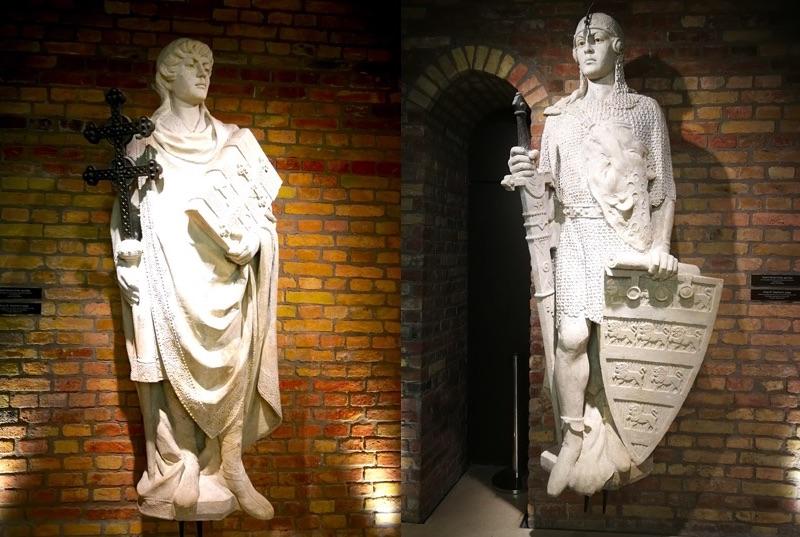 König Stephan - als Regent (rechts) und Heiliger (links). (Fotos: Alin Cucu)