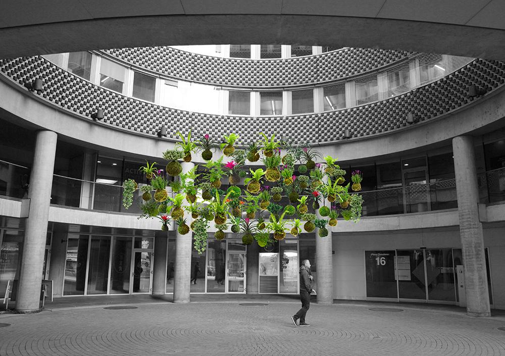 Kokedamas (Bild: © Lausanne Jardins)