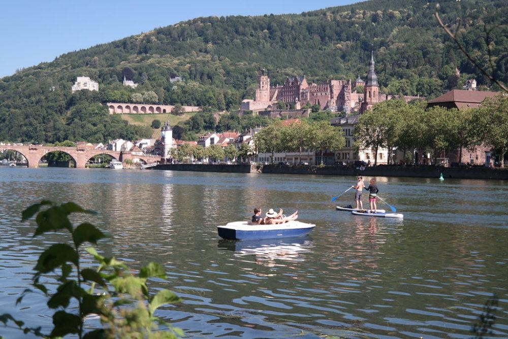 Freizeitvergnügen auf dem Neckar (Bild: © Heidelberg Marketing GmbH, Foto Thomas Vennen)